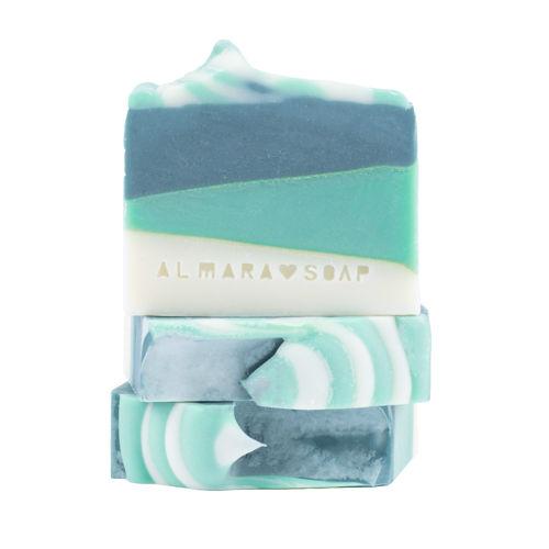 ALMARA SOAP Ručně vyrobené mýdlo Green Tea Cucumber Almara Soap