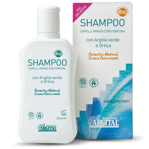 Šampon na mastné vlasy a proti lupům s kopřivou Argital