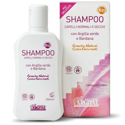 Šampon na normální a suché vlasy s lopuchovým kořenem Argital