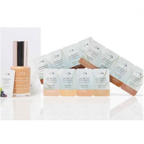 Set vzorků s Rozjasňující bází a Fruit pigmented® Hydratačními make-upy Dark 100% Pure