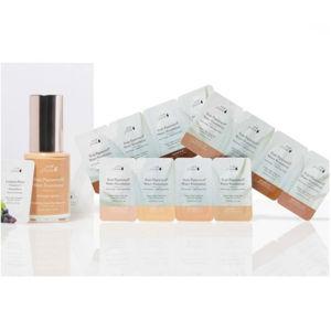 100% Pure Set vzorků s Rozjasňující bází a Fruit pigmented® Hydratačními make-upy Fair/Light