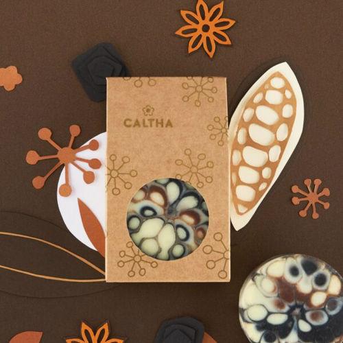 CALTHA Slavnostní tuhé mýdlo Badyán a Černé uhlí CALTHA
