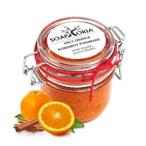 Tělový peeling Kořeněný pomeranč  Soaphoria