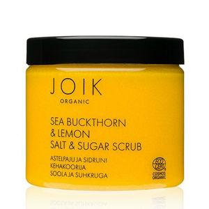 JOIK Organic Solný tělový peeling Rakytník & Citronový cukr