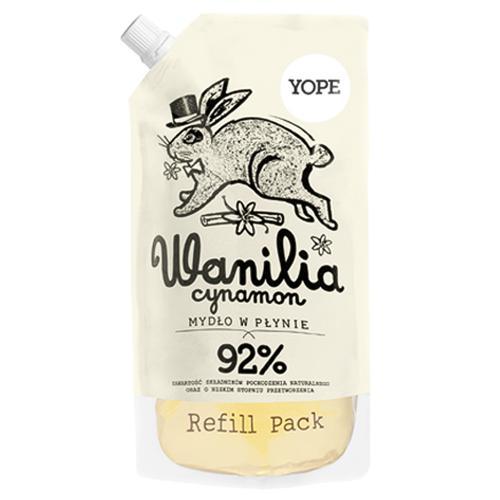 Tekuté koupelnové mýdlo Vanilka a skořice - náplň 500 ml Yope