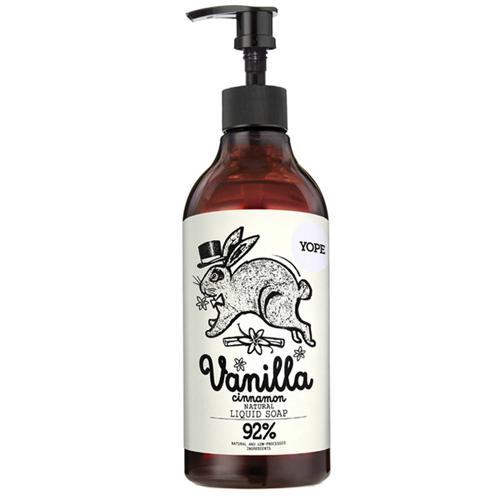 Tekuté koupelnové mýdlo Vanilka a skořice Yope