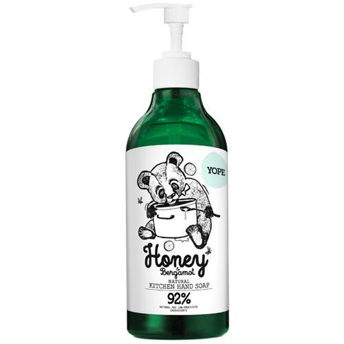 Tekuté  kuchyňské mýdlo Med a bergamot Yope