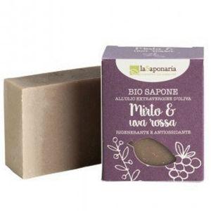 laSaponaria Tuhé olivové mýdlo BIO - Myrta a červené hrozny