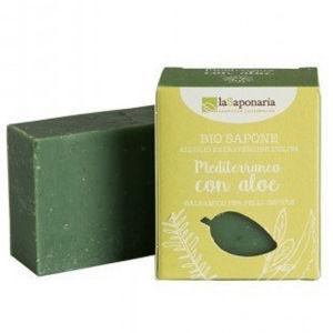 laSaponaria Tuhé olivové mýdlo BIO - Středomořské bylinky s aloe
