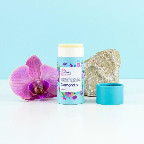 Tuhý deodorant s aktivní látkou Senses GLAMOROUS Navia/Kvitok