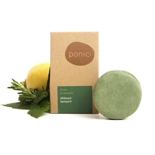 Tuhý šampon kopřivový - Citrón a rozmarýn 60 g Ponio