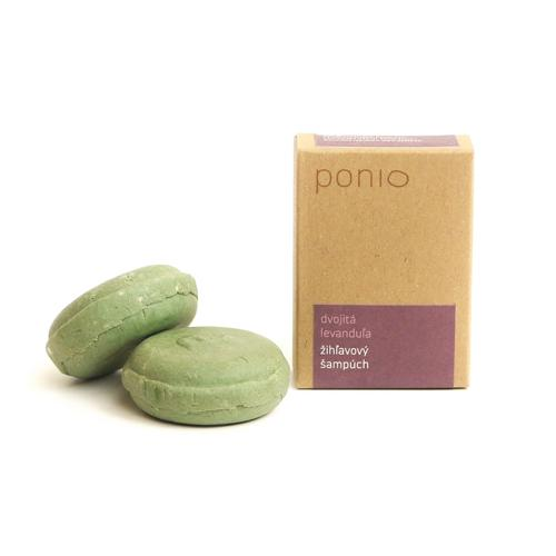 Tuhý šampon kopřivový – Dvojitá levandule 30 g Ponio