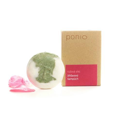 Tuhý šampon kopřivový – Růžová alej 30 g Ponio