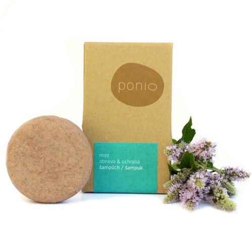 Tuhý šampon Mint obnova & ochrana 60 g Ponio