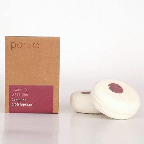 Tuhý šampon proti lupům Levandule & Tea tree 30 g Ponio