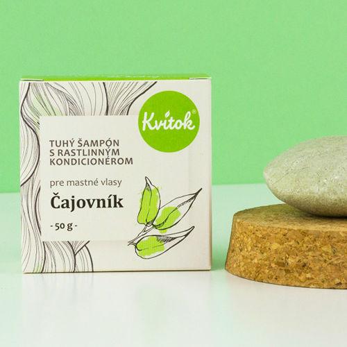 Tuhý šampon s kondicionérem na mastné vlasy - Čajovník 50 g Navia/Kvitok