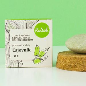 Kvitok Tuhý šampon s kondicionérem na mastné vlasy - Čajovník 50 g