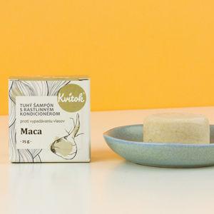 Navia/Kvitok Tuhý šampon s kondicionérem proti vypadávání vlasů - Maca 25 g