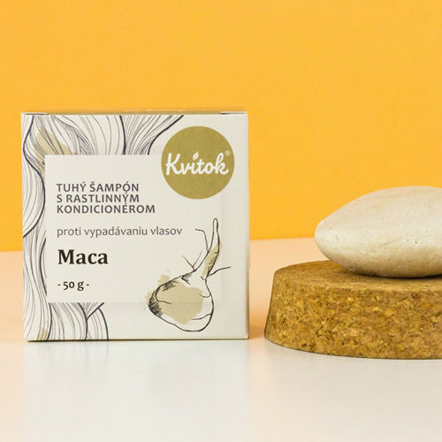 Tuhý šampon s kondicionérem proti vypadávání vlasů - Maca 50 g Navia/Kvitok