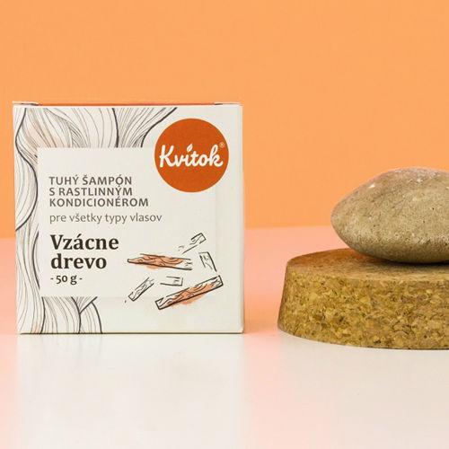 Tuhý šampon s kondicionérem - Vzácné dřevo 50 g Kvitok