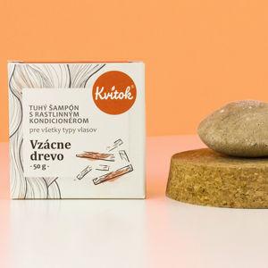 Navia/Kvitok Tuhý šampon s kondicionérem - Vzácné dřevo 50 g