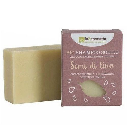 Tuhý šampon se lněným olejem laSaponaria