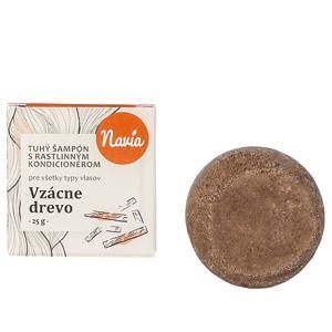 Navia/Kvitok Tuhý šampon s kondicionérem - Vzácné dřevo 25 g