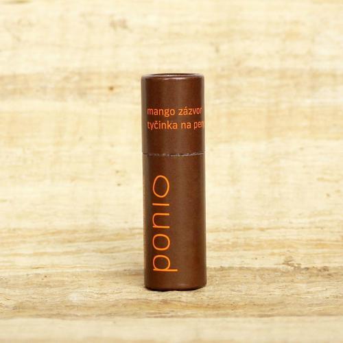 Tyčinka na rty Mango & zázvor Ponio