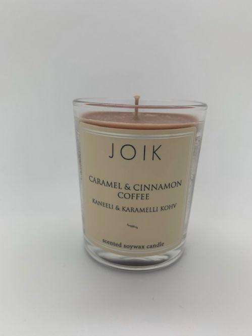 CESTOVNÍ VELIKOST Vonná svíčka Caramel and Cinnamon Coffee JOIK HOME & SPA