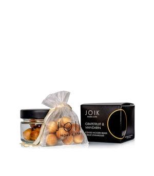 """JOIK Home & Spa Vonné dřevěné korálky """"Grapefruit a mandarinka"""""""