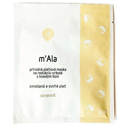 """Výživná pleťová maska proti vráskám """"M'Ala"""" 10 ml LIQOIL"""