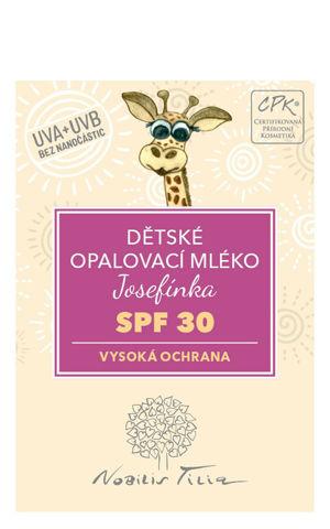 Nobilis Tilia VZOREČEK Dětské opalovací mléko Josefínka SPF 30