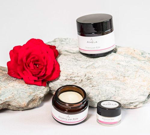 VZOREČEK Důvěrný pan Růže - jemný krémový deodorant Anela